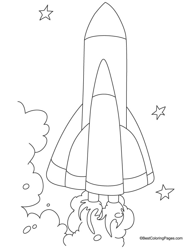 spacecraft coloring page 5 - Spaceship Coloring Pages Print