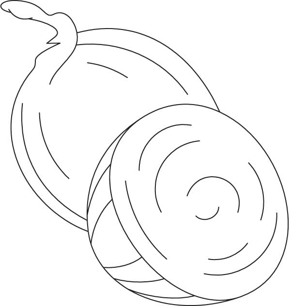 Onion Coloring Pages Spanish onion coloring page