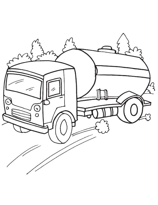 Speedy oil tanker coloring page | Download Free Speedy oil tanker ...