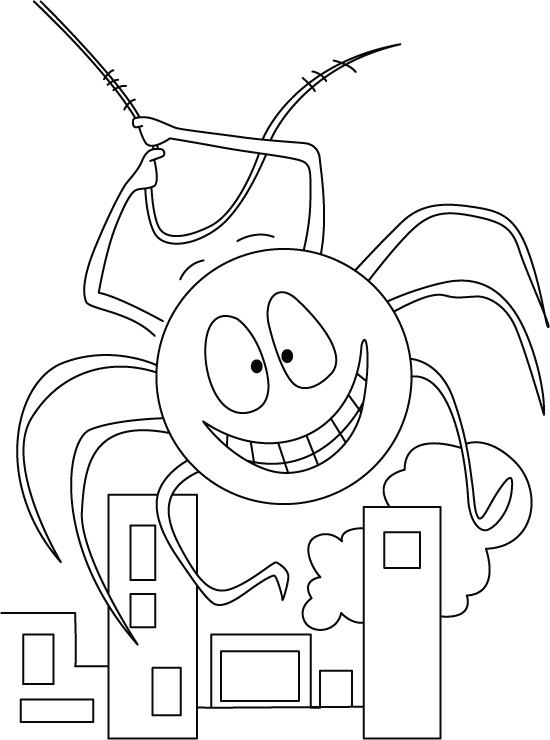 home or factory spider free entry coloring pages download free - Pages Download Free