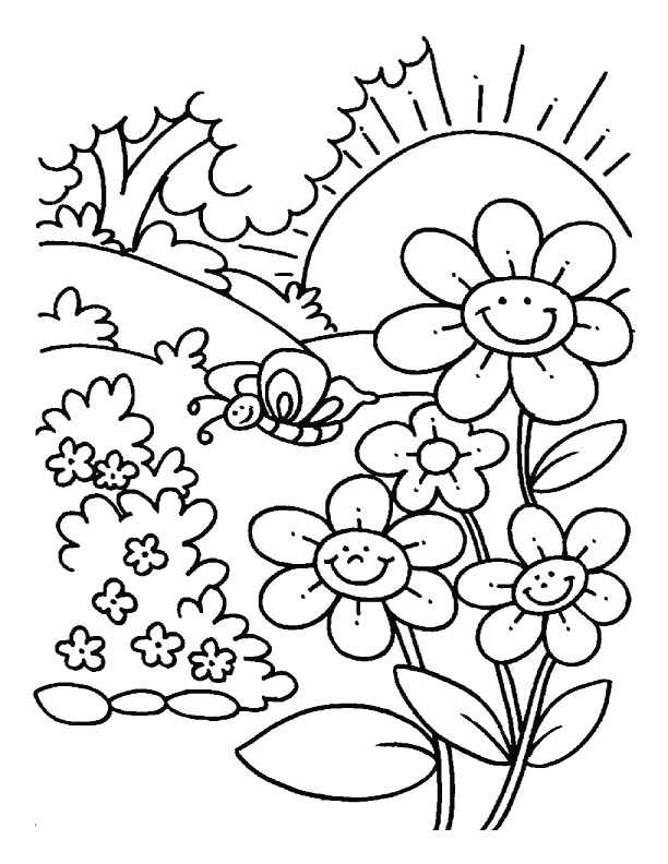A sunny day coloring pages Download
