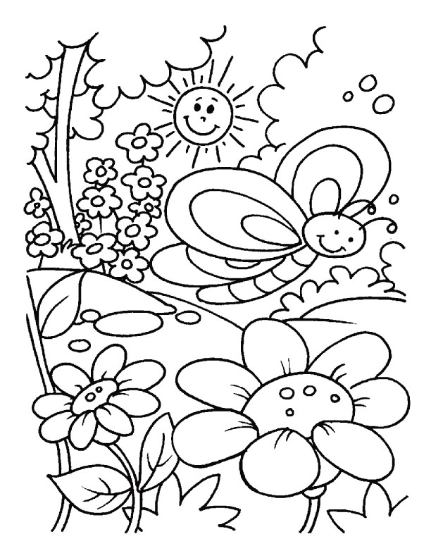 printable coloring pages for sping - photo#15