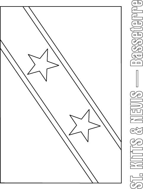 St Kitts Amp Nevis Flag Coloring Page Download Free St