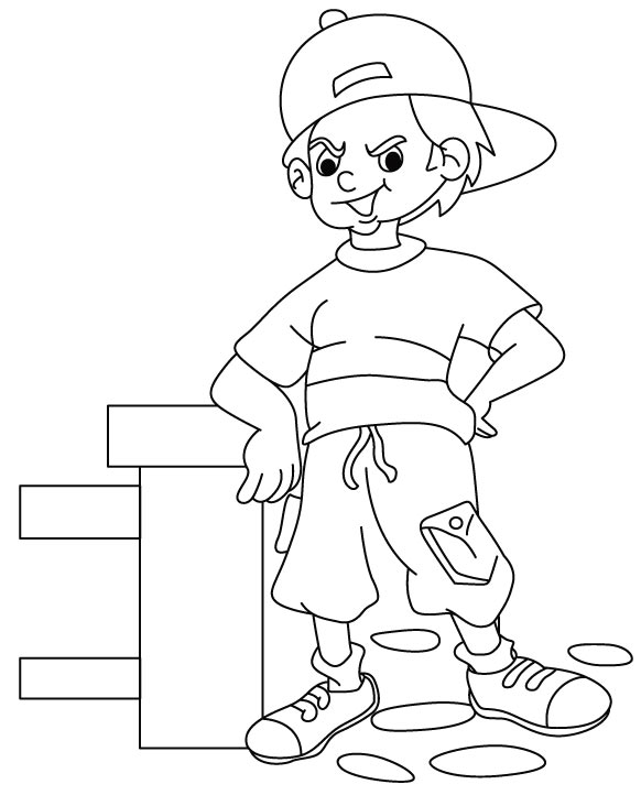 gandhiji standing coloring pages - photo#24