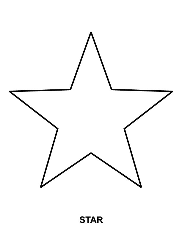 Star coloring page Download Free