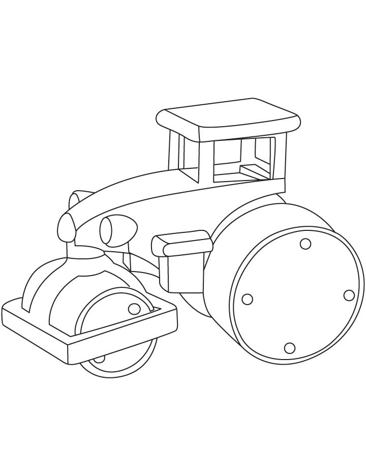 Steamroller compacter coloring pages