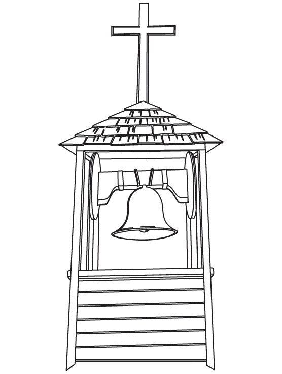 Steeple coloring page
