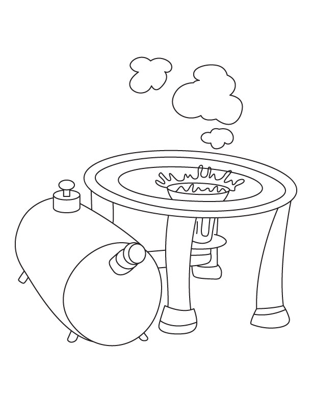 gas station coloring page - photo #27