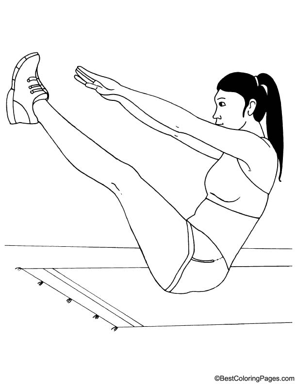Stretching coloring page