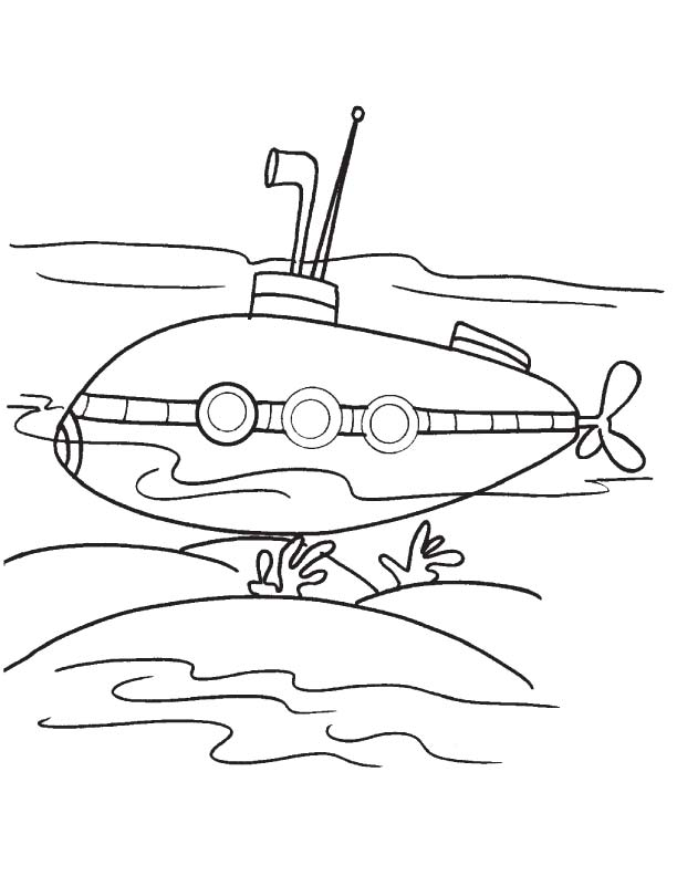 Submarine Underwater Coloring Page Download Free Submarine Underwater Coloring Pages