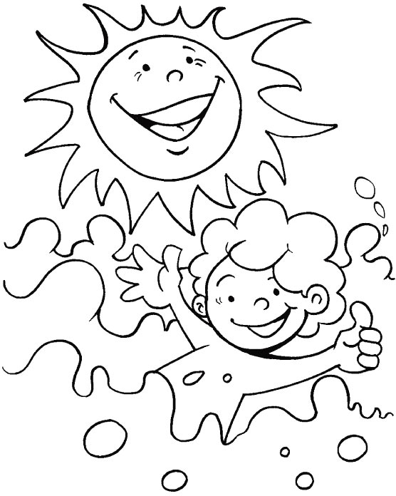 A bright sunny day coloring page Download Free A bright