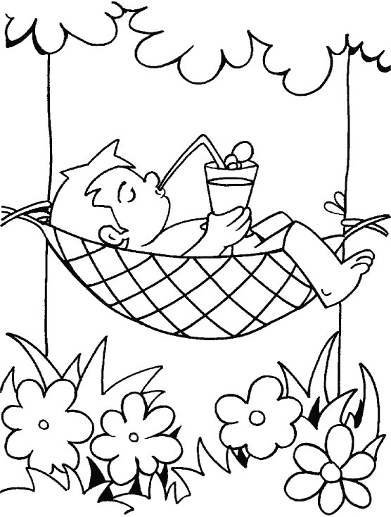 Free Coloring Pages Of Summer Time Water Safety