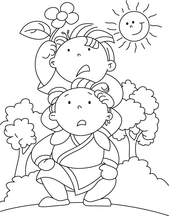 Summer flower coloring page | Download Free Summer flower ...
