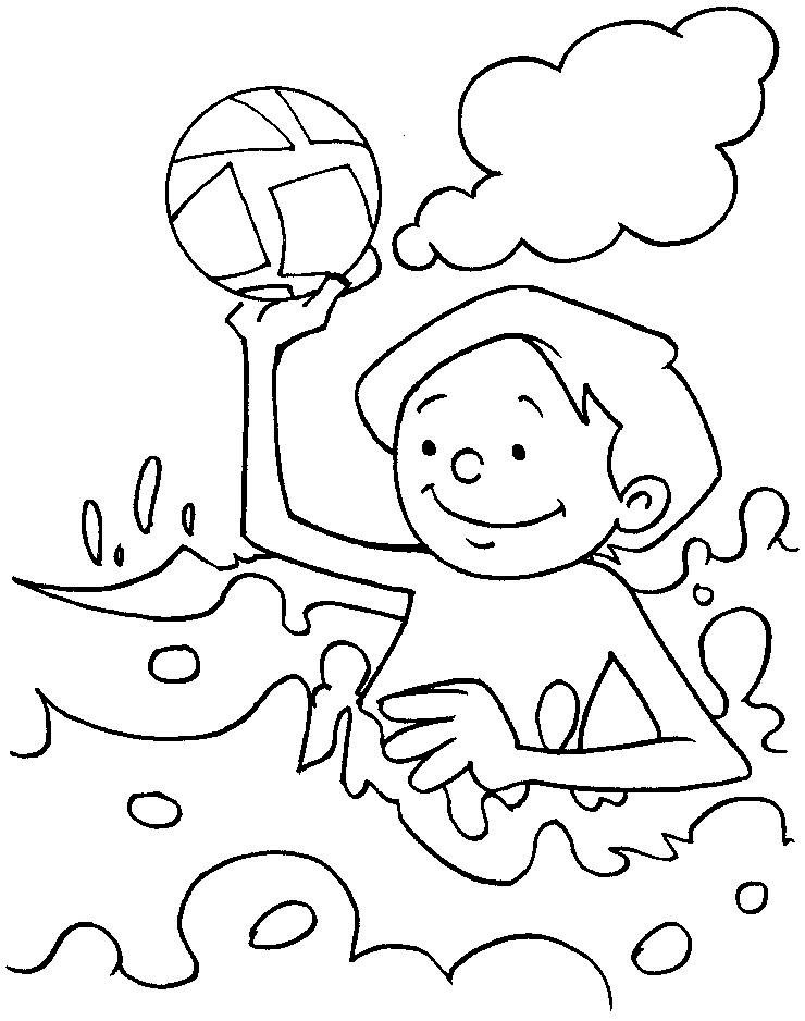 Playing In The Sea Coloring Page