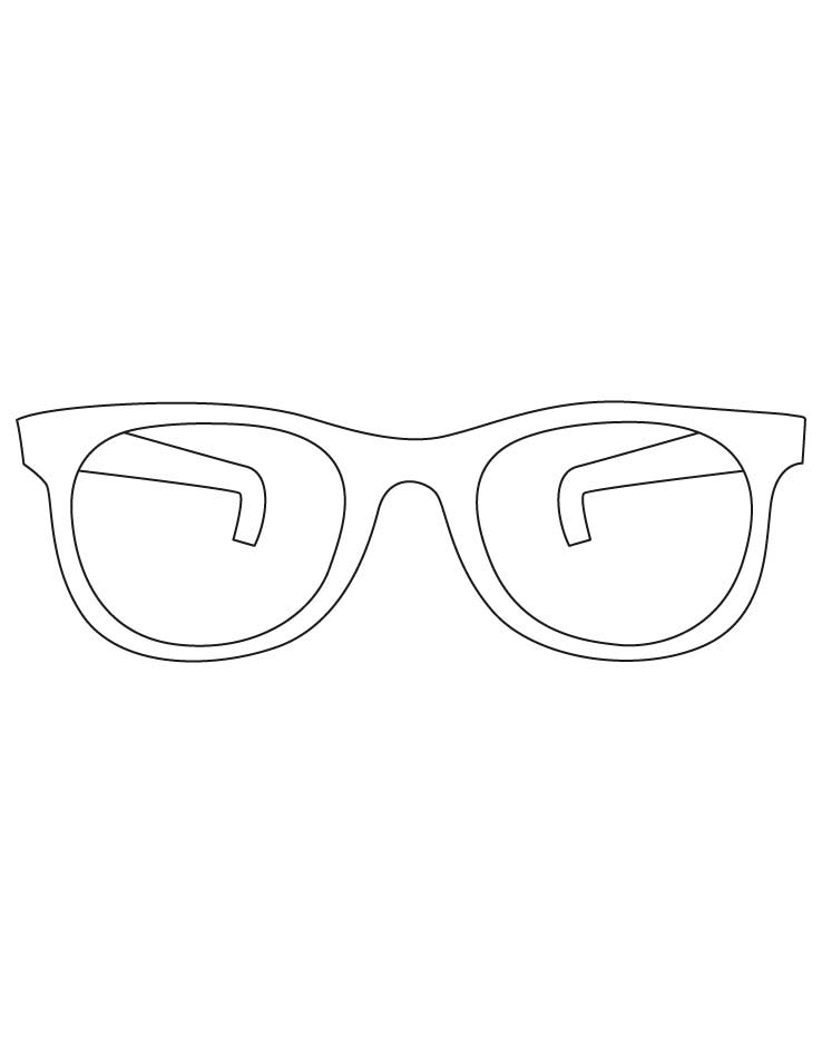 Sunglasses coloring pages