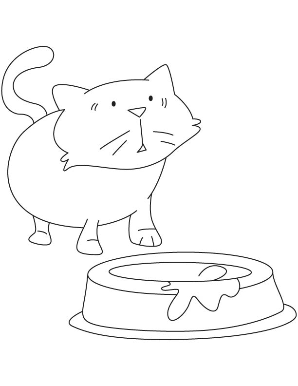 Surprised kitten coloring page