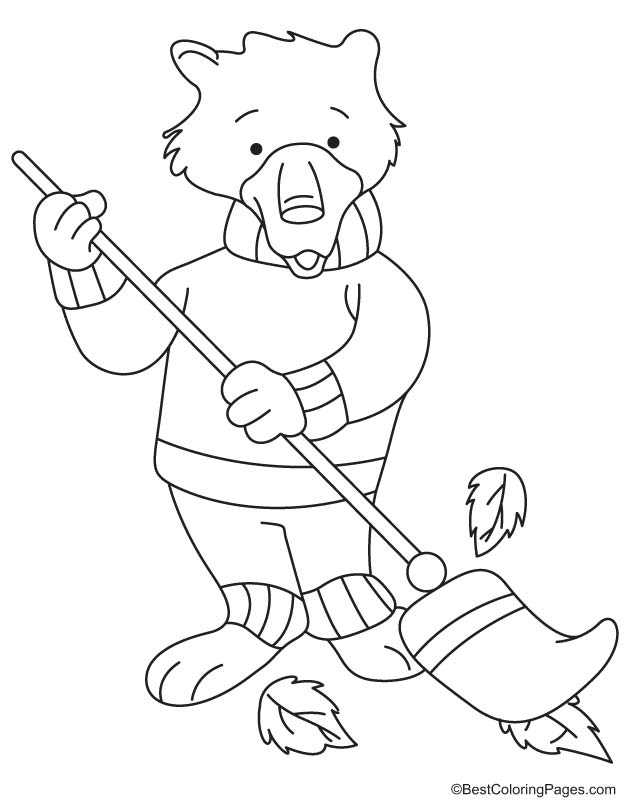 Sweeper coloring page 1