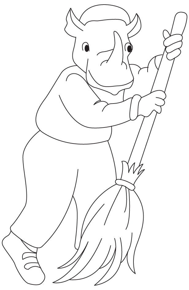 Sweeper coloring page