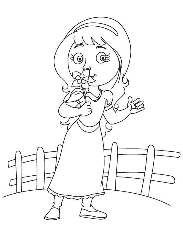 Sweet Columbine Flower Coloring Page