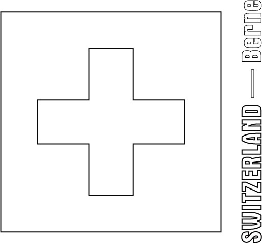 Switzerland Flag Coloring Page
