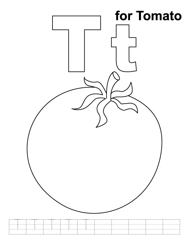Sketch of tomato plant coloring pages for Tomato plant coloring page