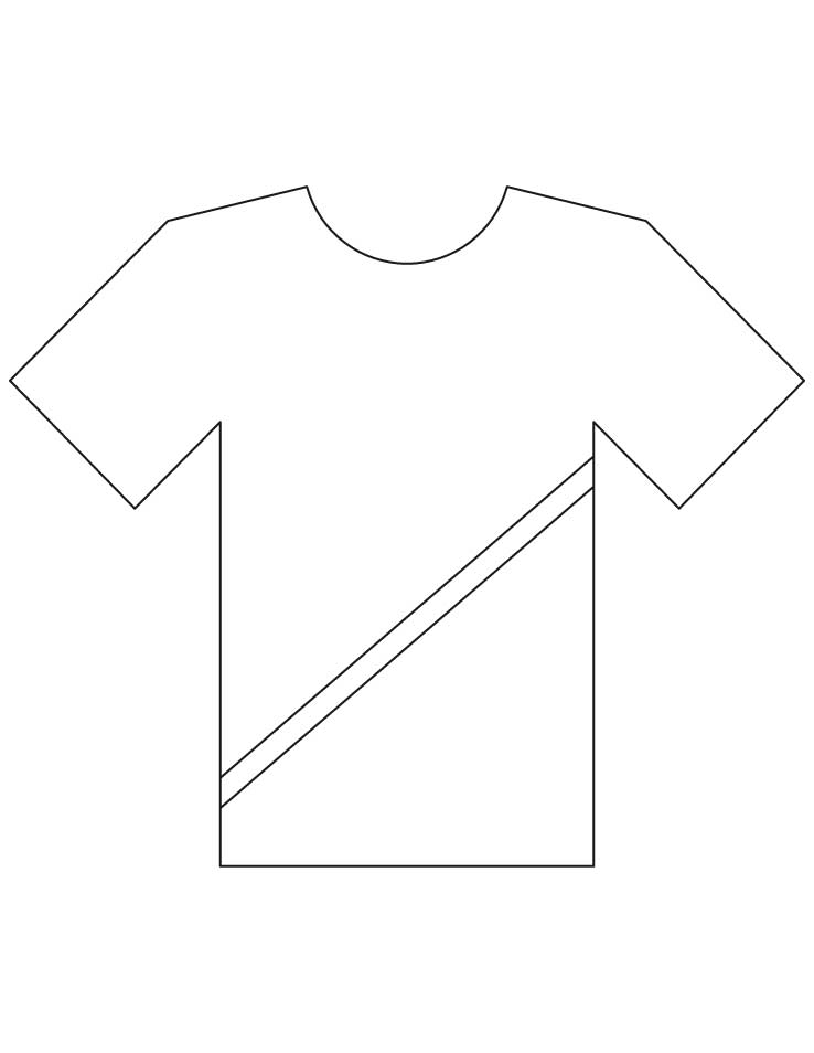coloring pages shirt - photo#17
