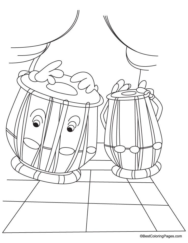 Tabla coloring page