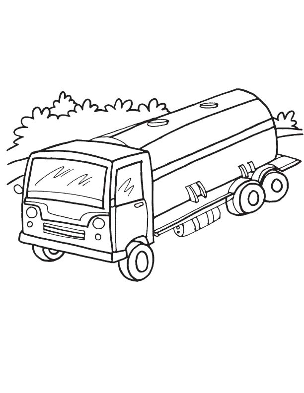 Tanker truck on road coloring page Download Free Tanker truck on