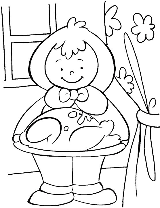 May your thanksgiving blessed with peace & love coloring page