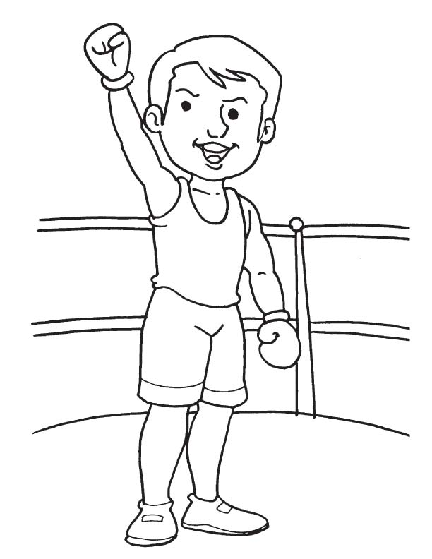 The famous boxer coloring page