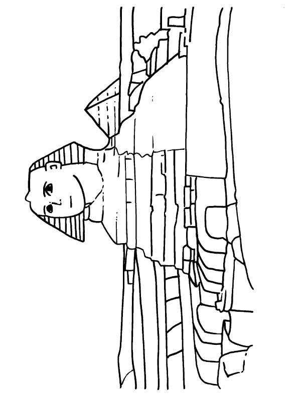 Sphinx Free Coloring Pages Sphinx Coloring Page