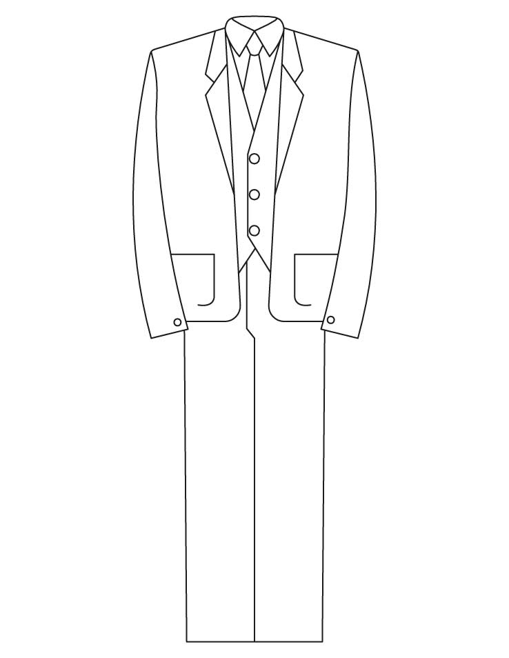 Coloring Pages Tuxedo Suits Coloring Pages
