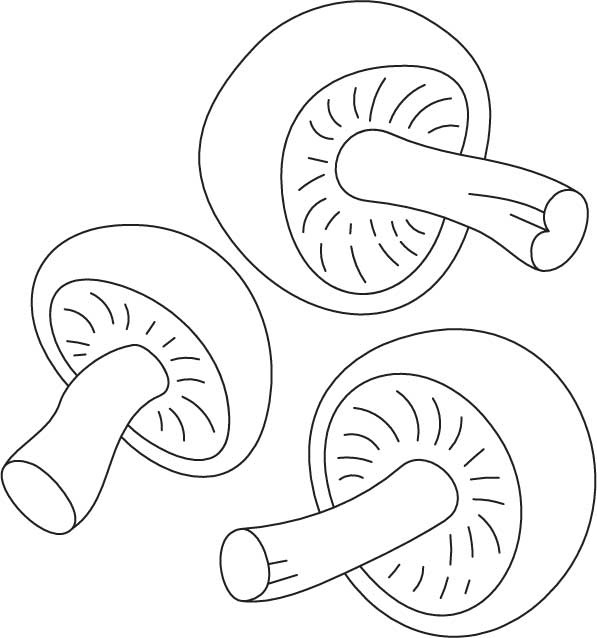 free coloring pages of road or mushroom