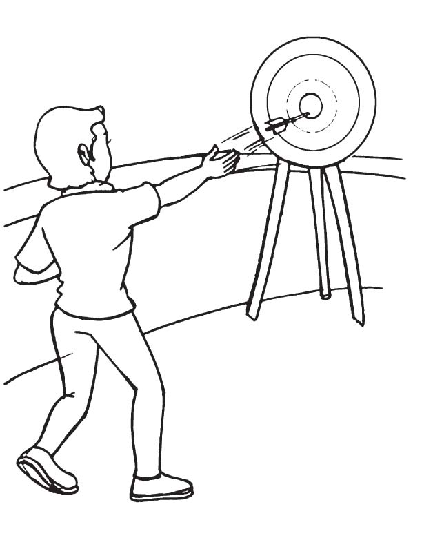 Throwers coloring page