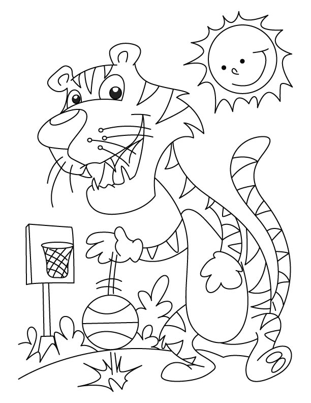 Tiger volleyball champion coloring pages