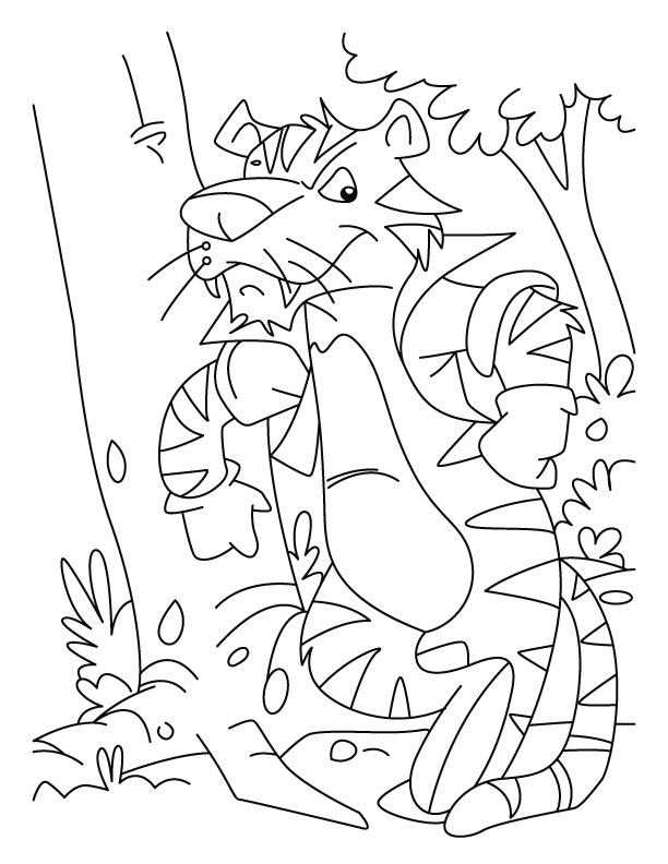 Tiger-man eater coloring pages