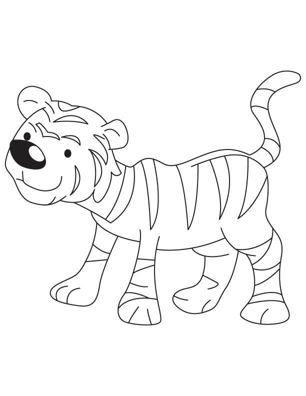 Tiger Cub Coloring Page Download Free Tiger Cub Coloring Page For Kids Best Coloring Pages