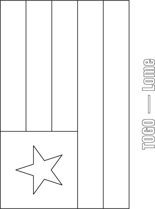 Togo Flag Coloring Page Download
