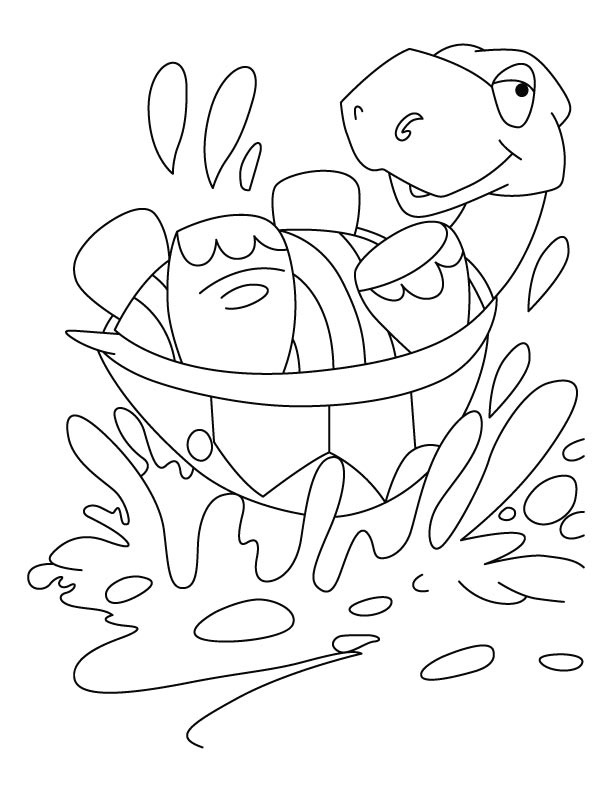 Strong shell tortoise coloring pages