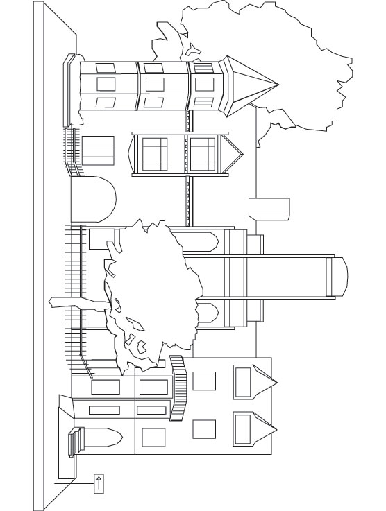 Townhouse coloring page