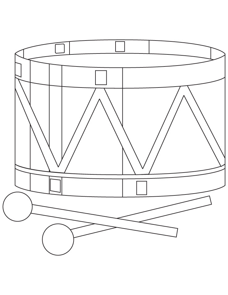 Toy drum coloring page