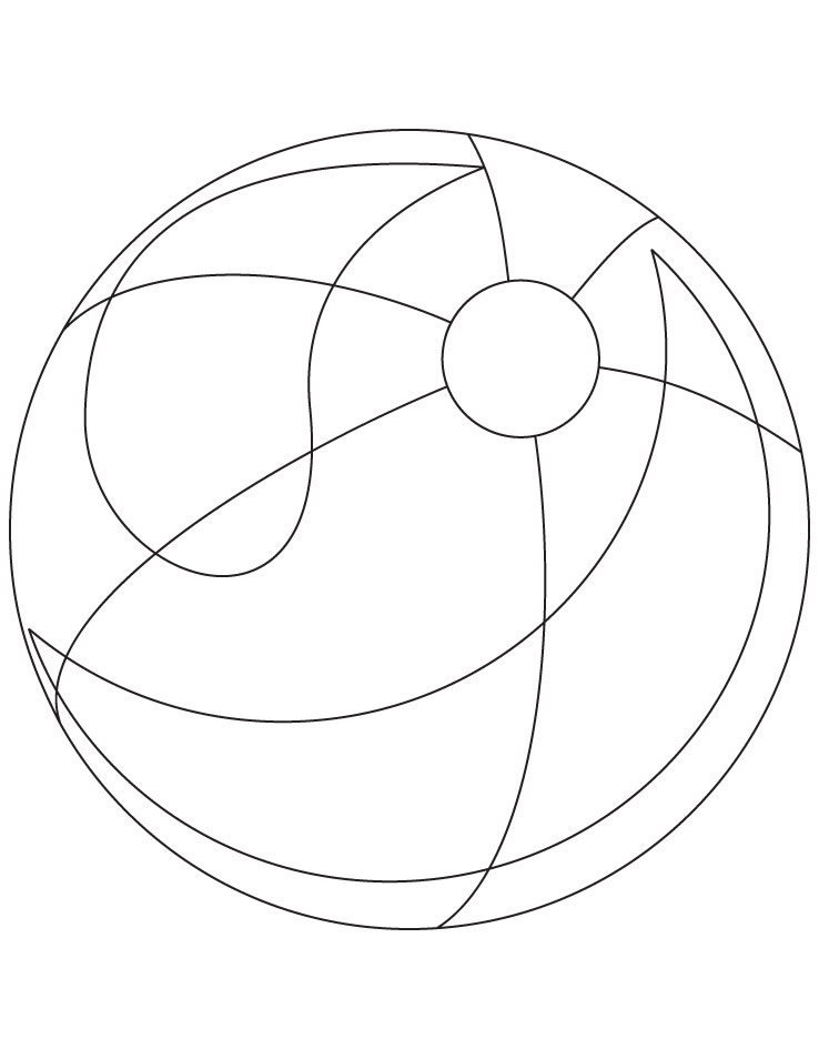 Beach ball coloring page | Download Free Beach ball ...