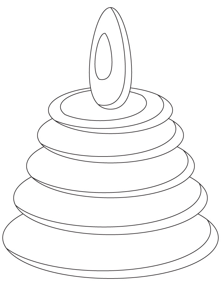 Toy ring coloring page