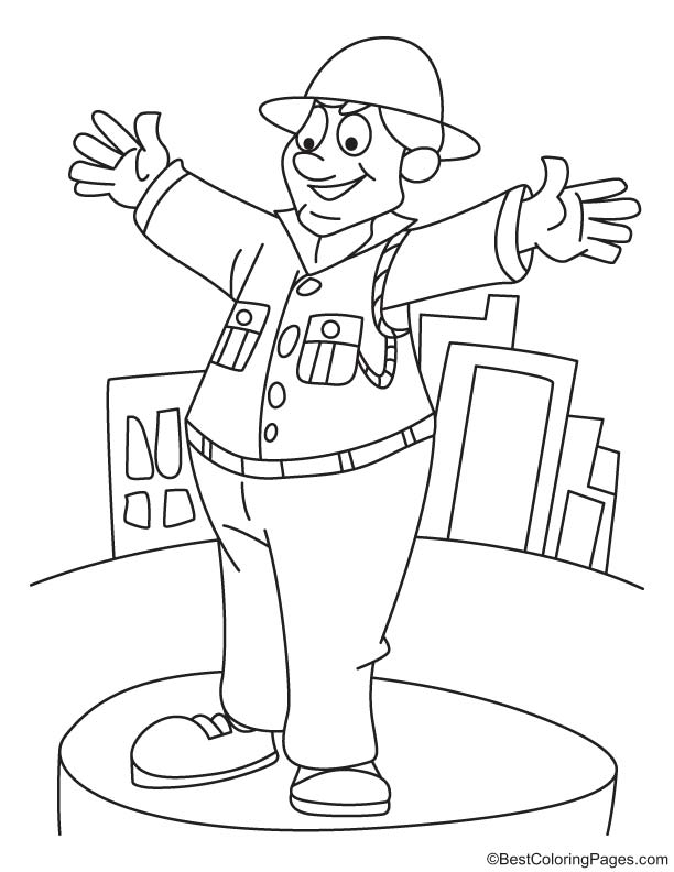 traffic police coloring page - Police Coloring Pages