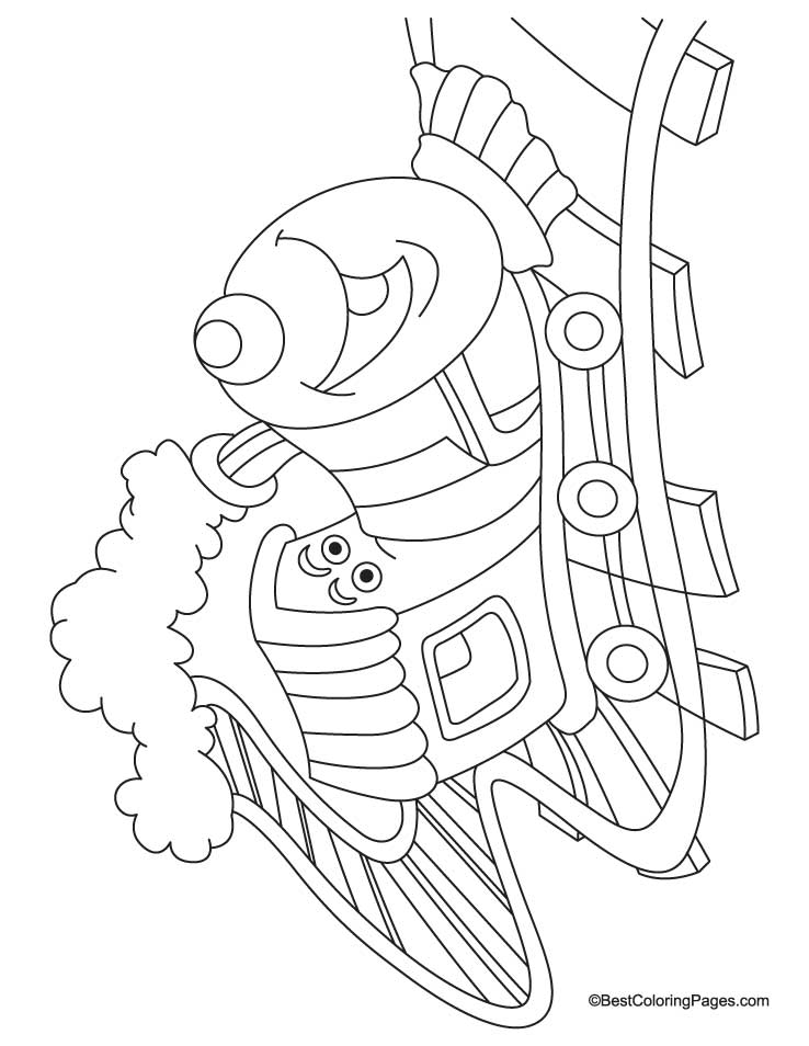 railroad freight cars coloring pages - photo#34