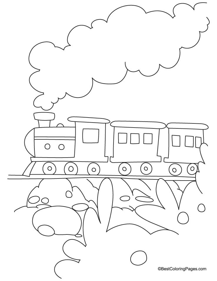 Train coloring page 3 | Download Free Train coloring page ...