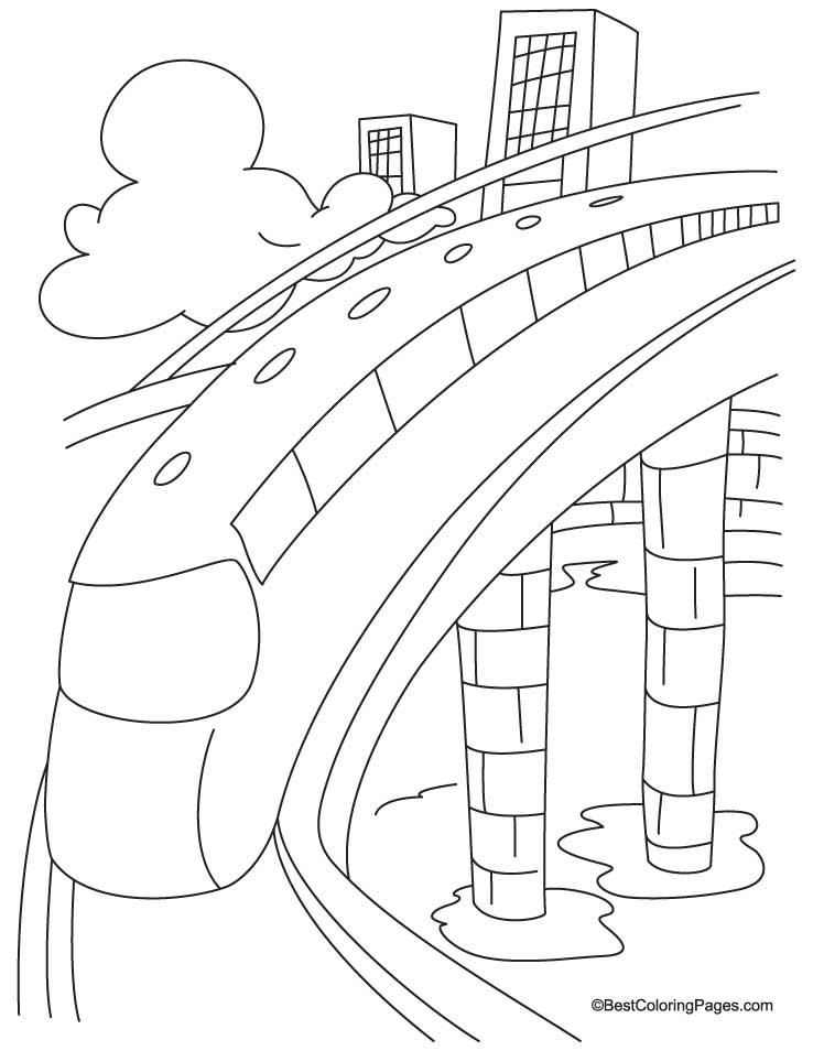 City train coloring page