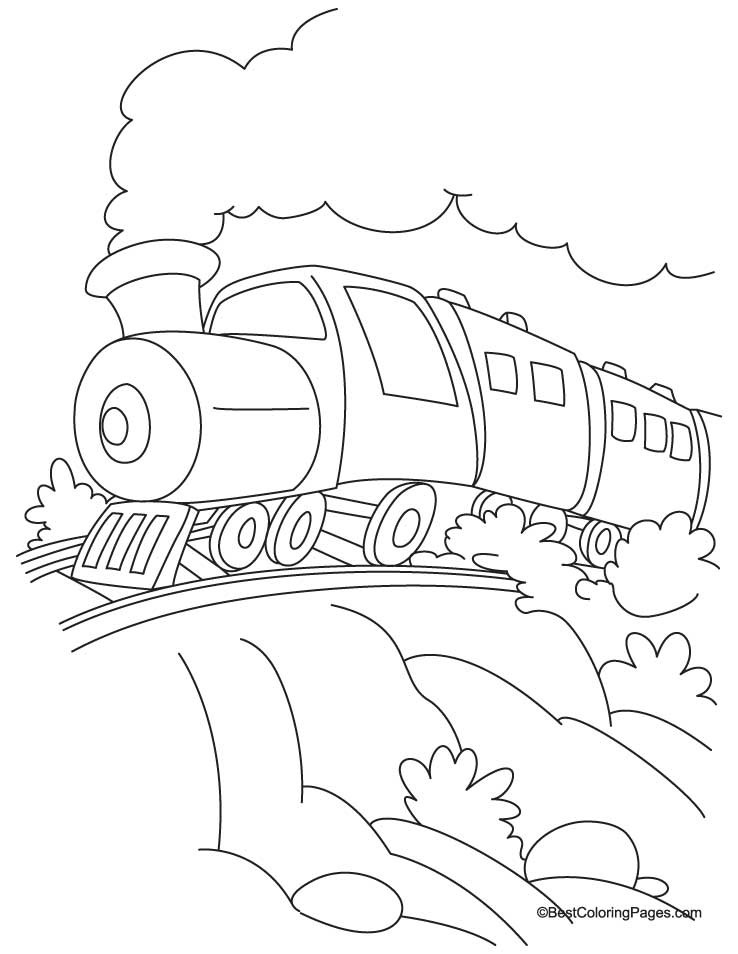 Train coloring page 7