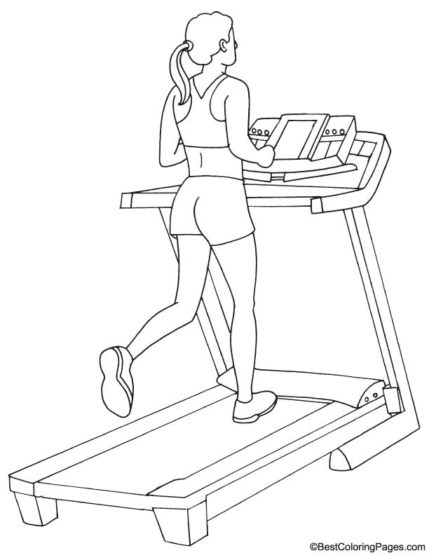 Treadmill coloring page