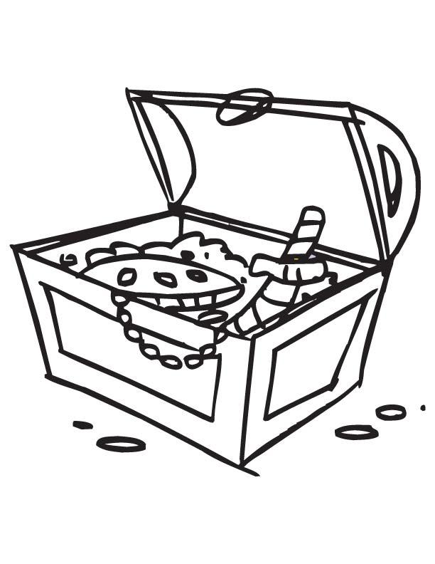 treasure box coloring pages
